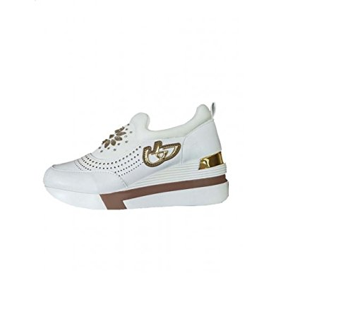 SCARPE SNEAKERS DONNA BYBLOS RUNNING GLAM 682308 002 PELLE ORIGINALE PE NEW