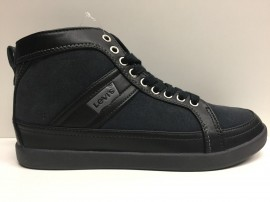 SCARPE CASUAL SNEAKERS UOMO LEVI'S LEVIS 220897 NERO PELLE SHOES NEW