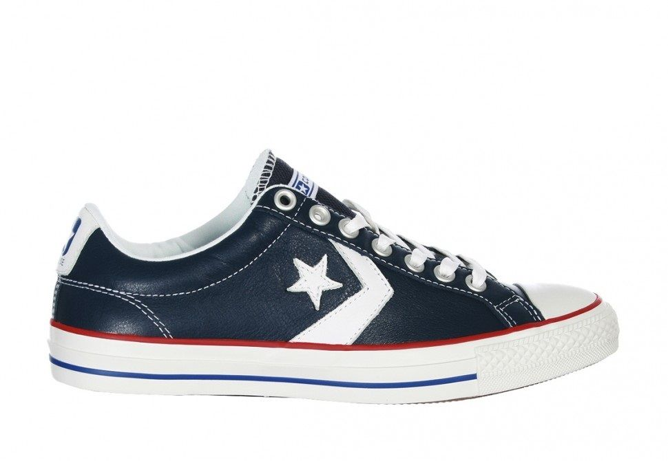 SCARPE SNEAKERS DONNA UOMO CONVERSE ALL STAR STAR PLAYER 105868 PELLE ORIGINALE
