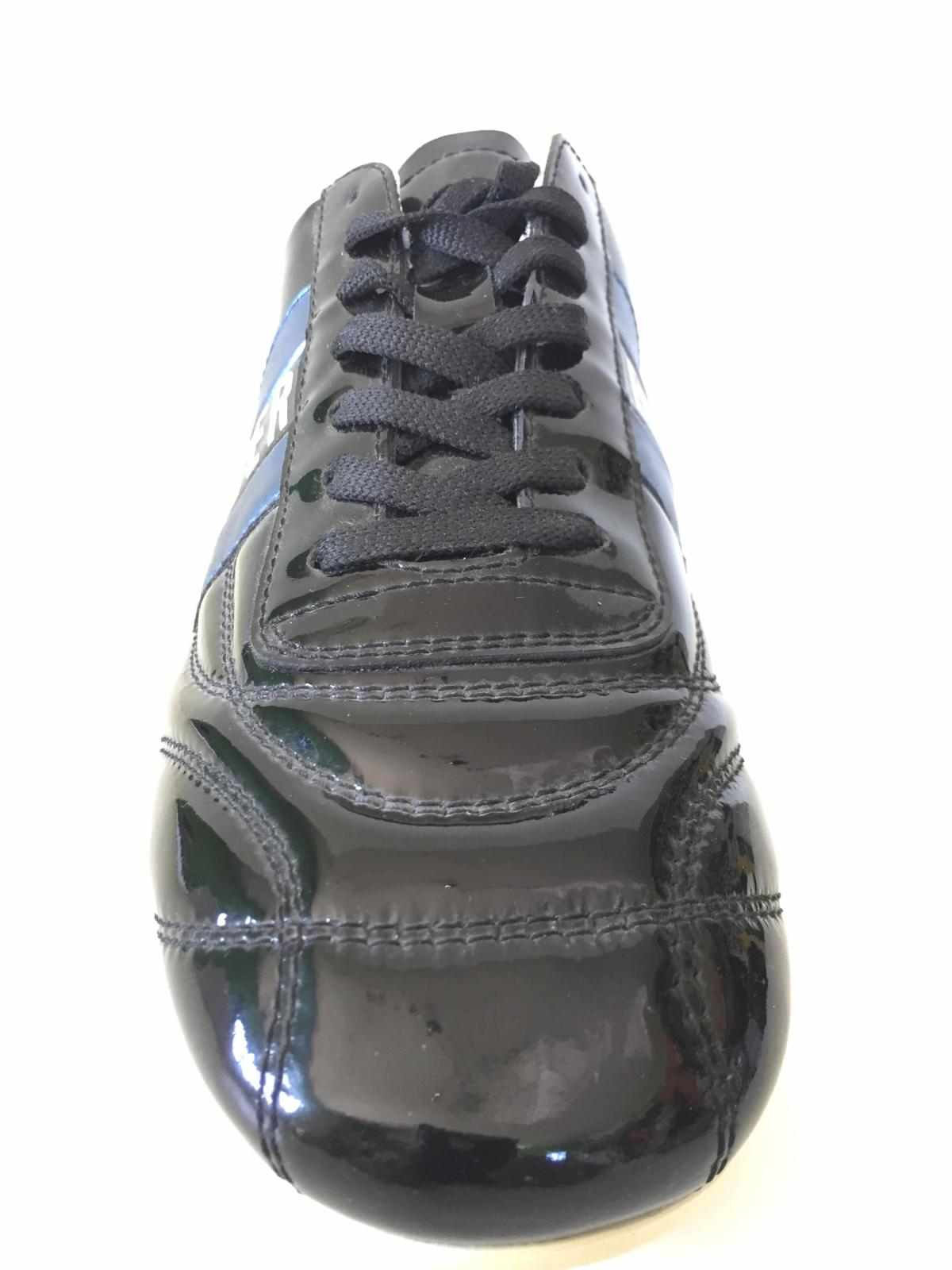 Details about Men Shoes Sneakers BIKKEMBERGS bke101050 Soccer Leather Black Blue to New show original title
