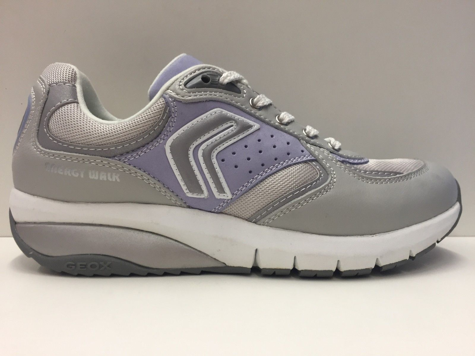 SCARPE CASUAL SNEAKERS DONNA GEOX ORIGINALE HYDEN D2215M SHOES PELLE GREY PE
