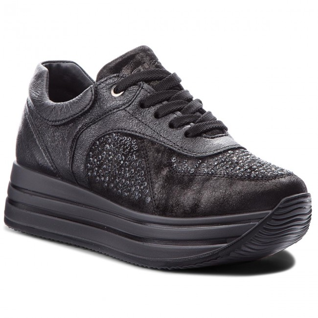 SCARPE SNEAKERS DONNA IGIECO IGI E CO 2146400 PELLE NERO ORIGINAL AI NEW
