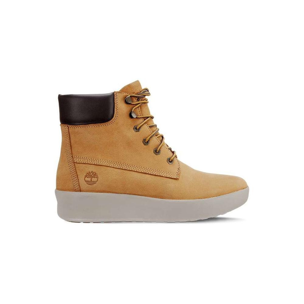 SCARPE SNEAKERS DONNA TIMBERLAND BERLIN PARK 6 INCH A1RXQ SPRUCE YELLO PELLE AI