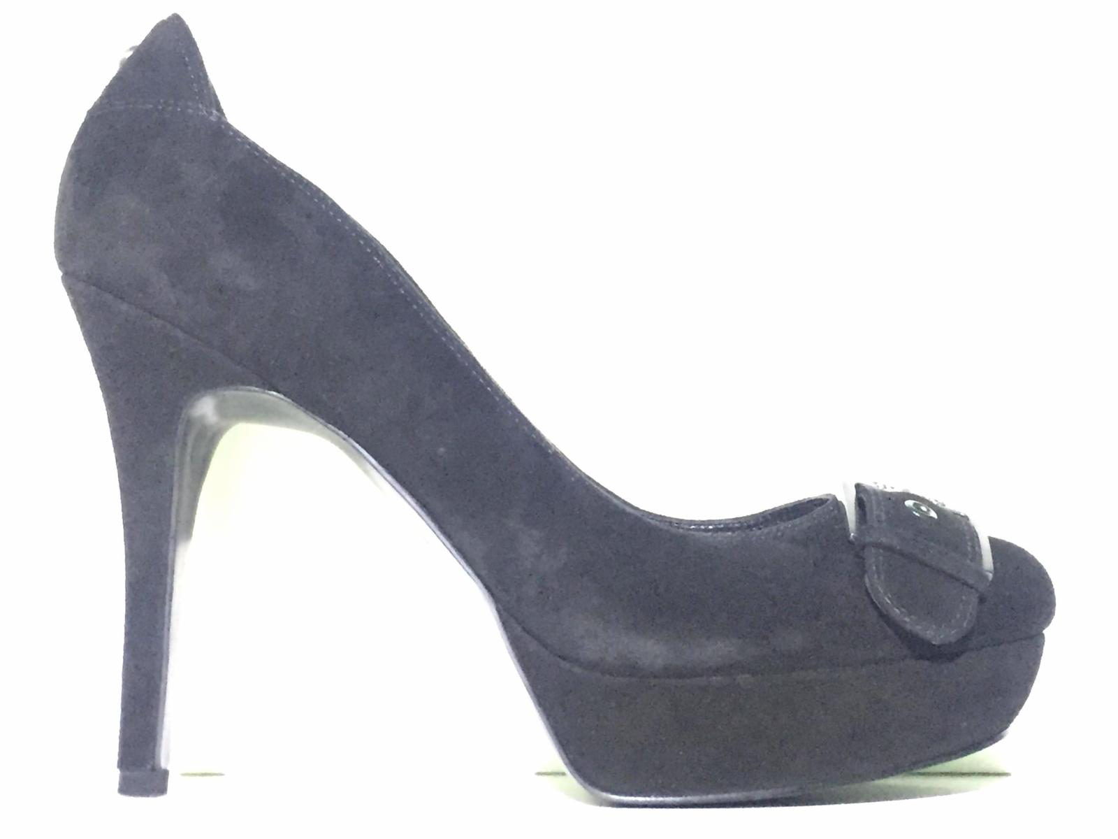 SCARPE DECOLTE DONNA GUESS FL4BRLSUE08 PELLE NERO ORIGINALE PE NEW