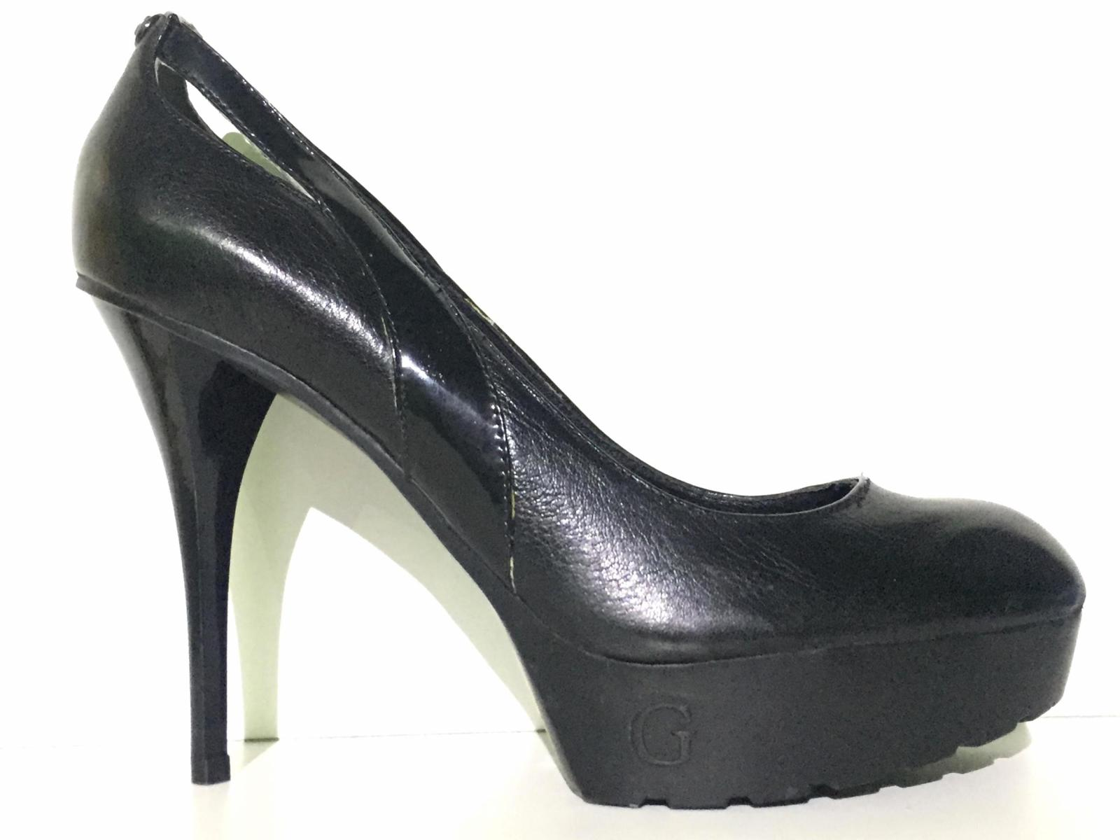 SCARPE DECOLTE DONNA GUESS FL4EEXLEA08 PELLE NERO ORIGINALE PE NEW
