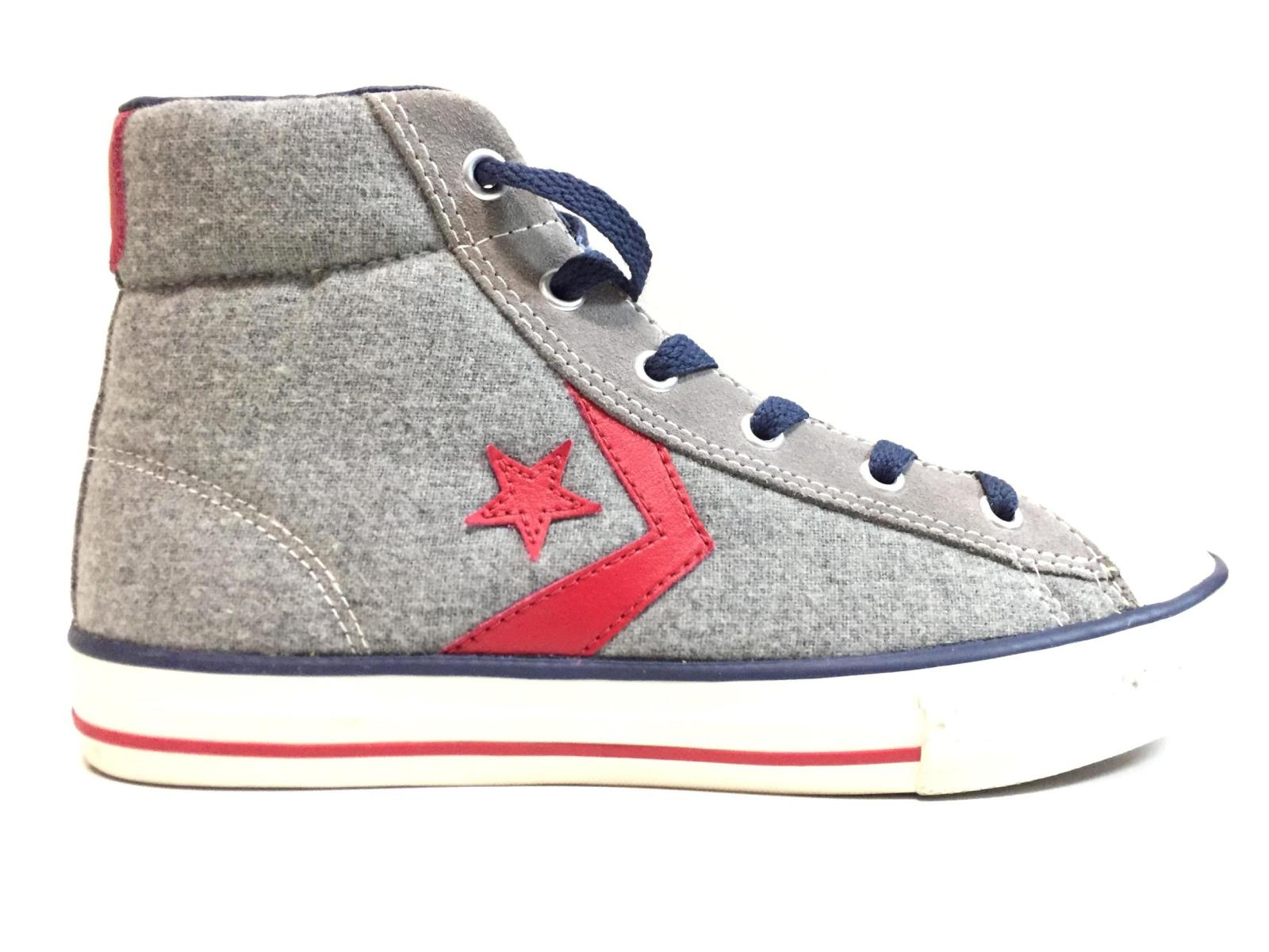 SCARPE SNEAKERS DONNA CONVERSE ALL STAR PLAYER WOOL 635140C LANA GREY ORIGINALE