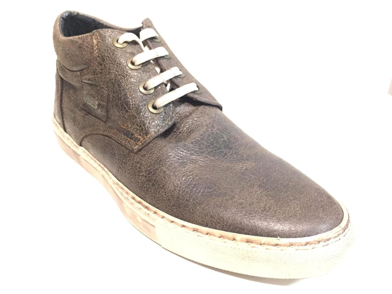 SCARPE CASUAL SNEAKERS UOMO DOOA SCA11D PELLE MARRONE ORIGINALE AI NEW