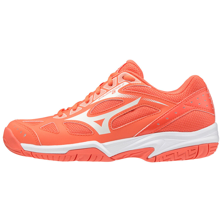 SCARPE VOLLEYBALL BAMBINA MIZUNO CYCLONE SPEED 2 V1GD191059 CORAL ORIGINALE AI
