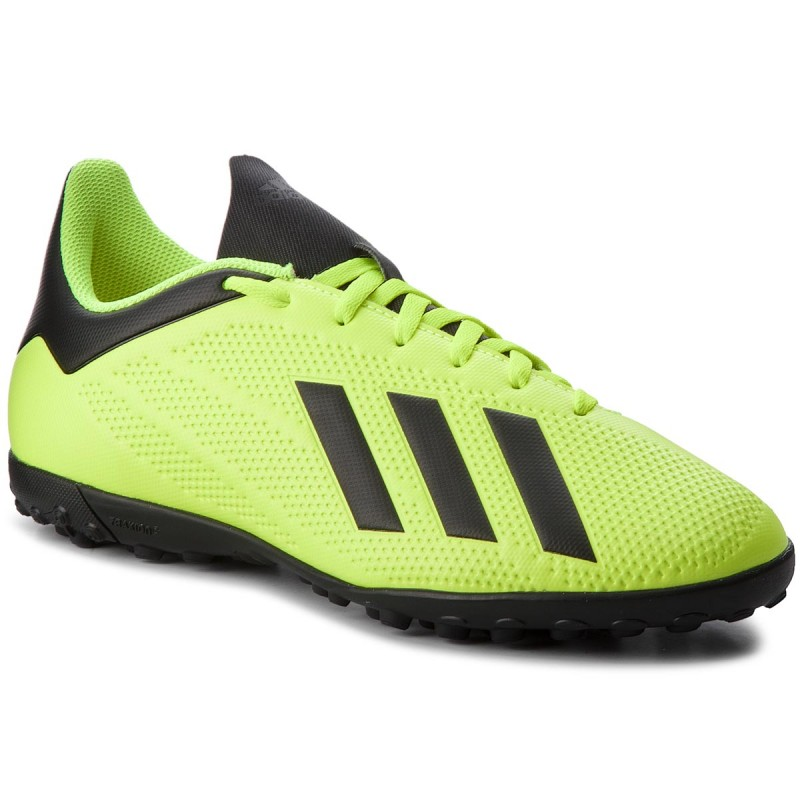 SCARPE SNEAKERS CALCETTO UOMO ADIDAS X TANGO 18 4 TF DB2479 YELLOW ORIGINALE AI