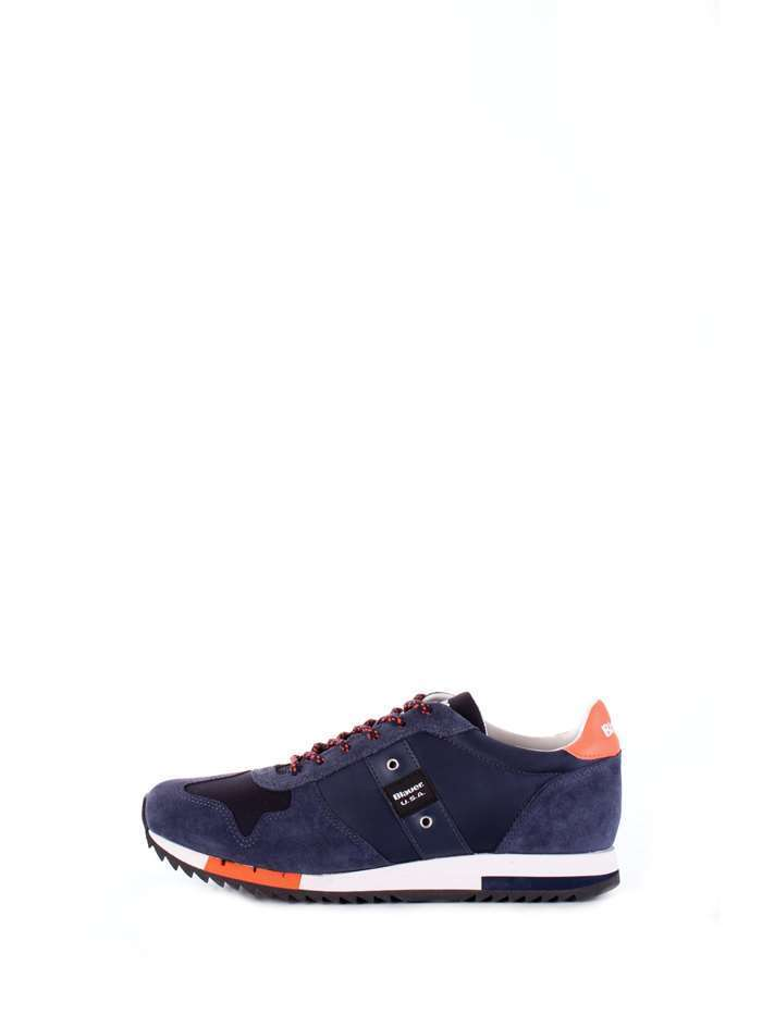 SCARPE SNEAKERS CASUAL UOMO BLAUER ORIGINALE 8SQUINCY01 PELLE SHOES P/E 2018