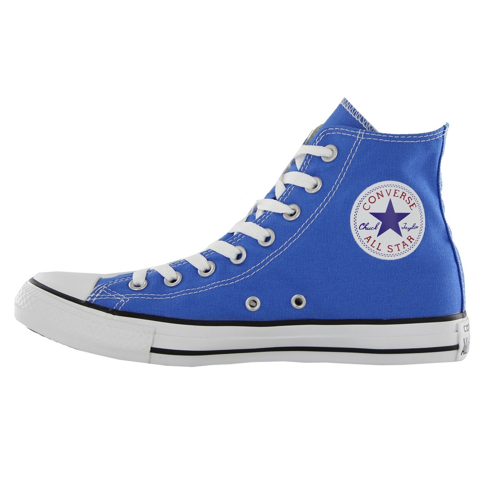 SCARPE SNEAKERS ALTE UNISEX CONVERSE CT HI 147129C BLIGHT SAPPHI SHOES TELA NEW