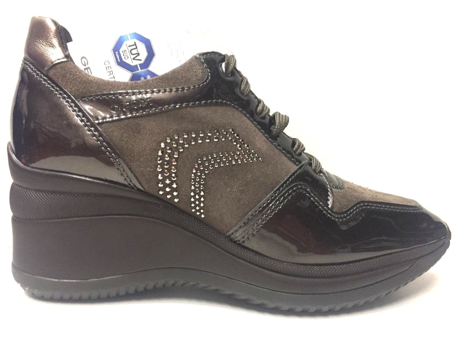 SCARPE CASUAL DONNA GEOX ORIGINAL REGINA D6475B PELLE SHOES LEATHER A/I 2016 NEW