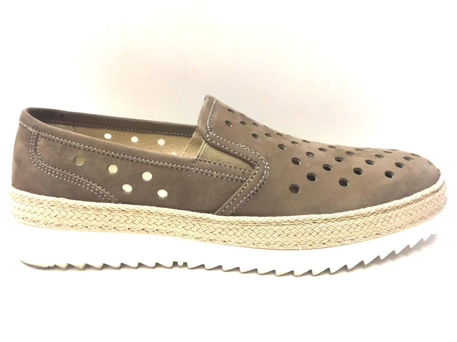 SCARPE SLIP ON MOCASSINI CASUAL DONNA SOLDINI ORIGINAL 19805 PELLE SHOES P/E NEW