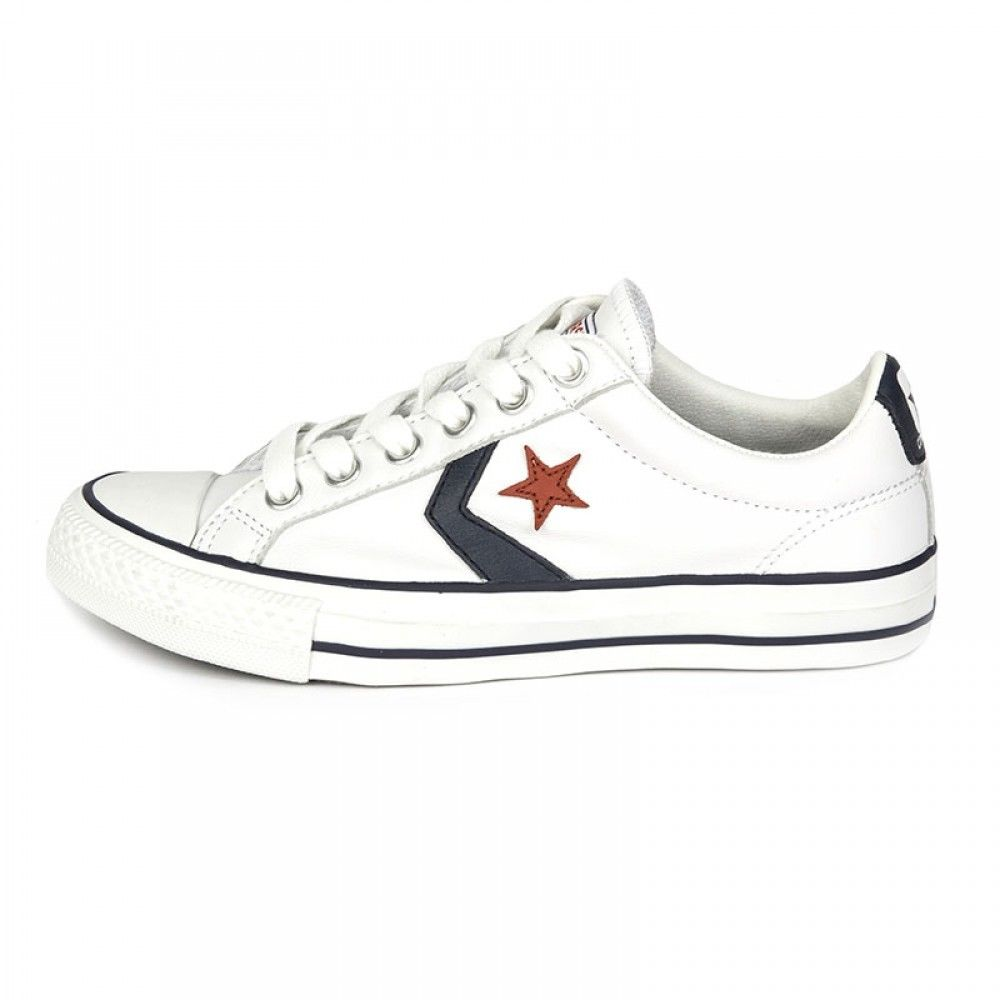 SCARPE SNEAKERS DONNA UOMO CONVERSE ALL STAR ORIGINAL STAR PLAYER 105868 PELLE