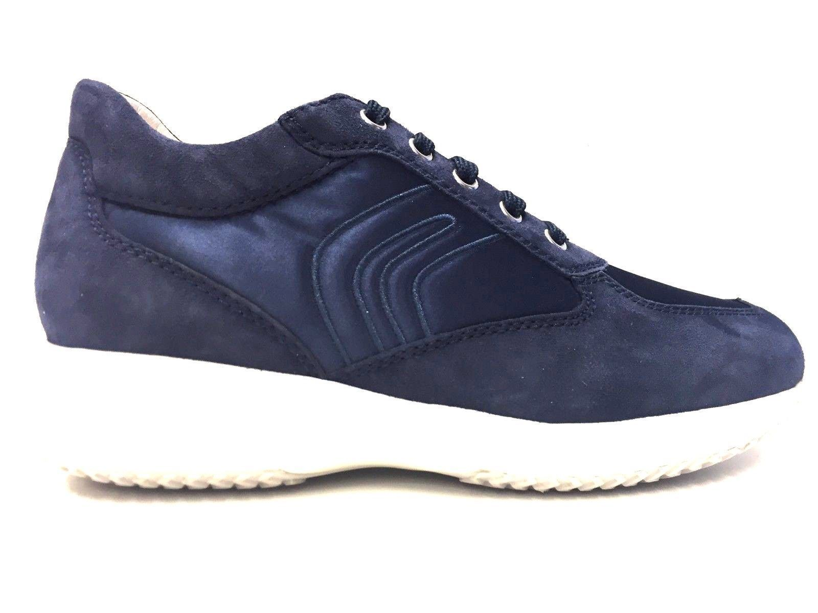 SCARPE CASUAL SNEAKERS DONNA GEOX ORIGINALE HAPPY D1162A SHOES PELLE PE NEW