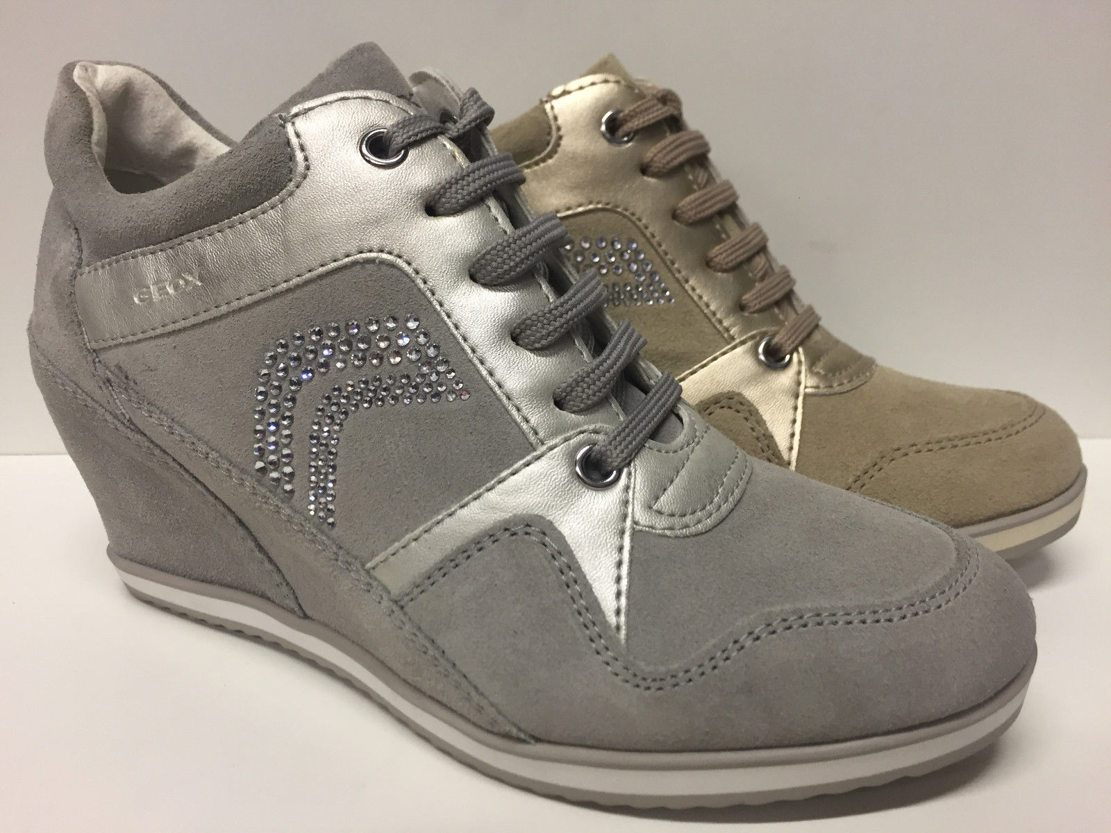 SCARPE CASUAL DONNA GEOX ORIGINAL ILLUSION D5454A PELLE SHOES LEATHER ZEPPA GIRL