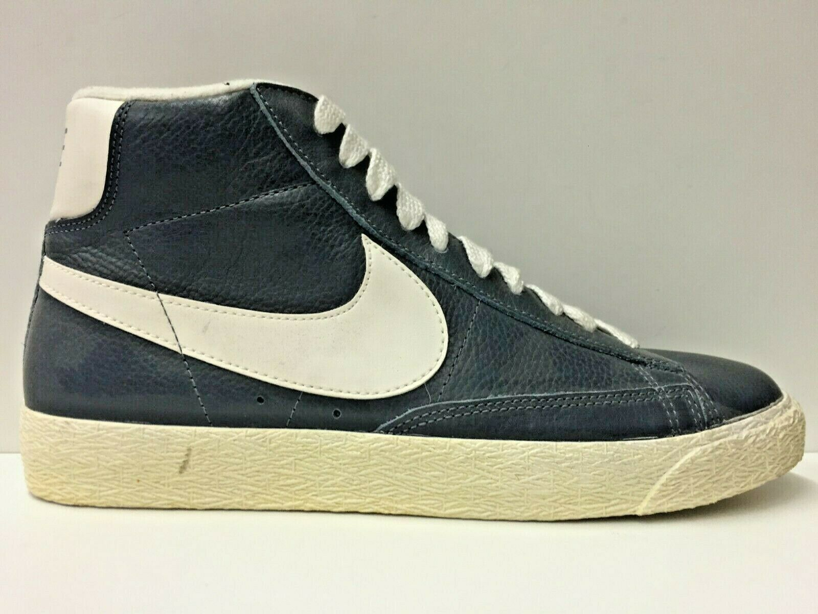 SCARPE SNEAKERS UOMO NIKE ORIGINALE BLAZER MID LEATHER VINTAGE PELLE A/I NEW