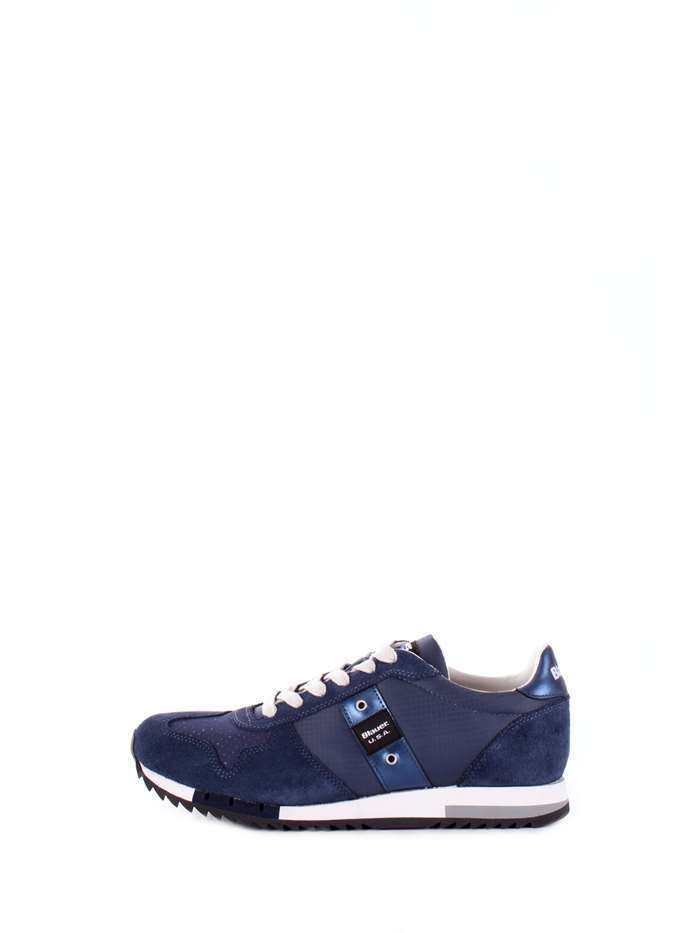 SCARPE SNEAKERS CASUAL UOMO BLAUER ORIGINALE 8S RUN LOW PELLE SHOES P/E 2018