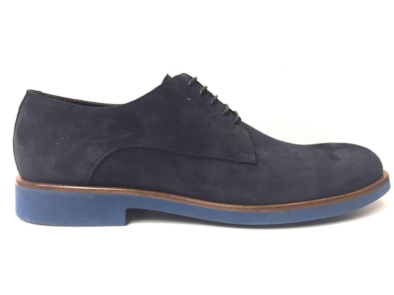 SCARPE CASUAL UOMO BALDININI TREND ORIGINALE BLU PELLE SHOES P/E NEW