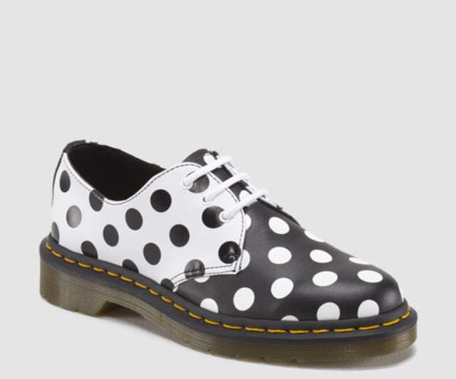 SCARPE CASUAL DONNA DR MARTENS ORIGINALE MERIS 15809101 PELLE POIS SHOES NUOVO