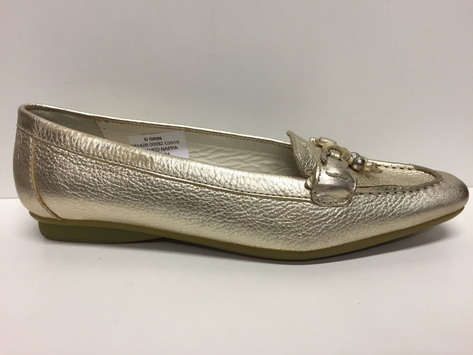 SCARPE MOCASSINO DONNA GEOX ORIGINALI GLAM D5310P ORO PELLE NAPPA SHOES LEATHER