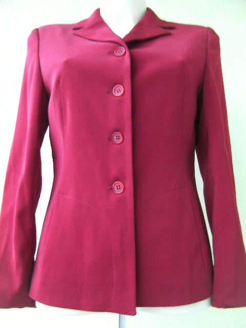 GIACCA CASUAL DONNA CAMOMILLA ORIGINAL 42 ROSSO RED JACKET WOMAN GIACCHINA USATO