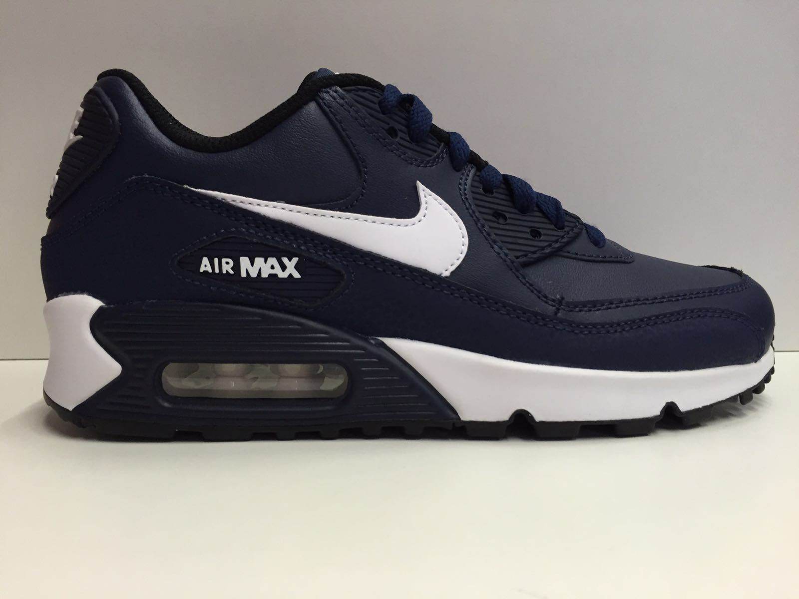 SCARPE NIKE ORIGINAL AIR MAX 90 LTR 724821 PELLE SHOES LEATHER SCARPETTE UNISEX