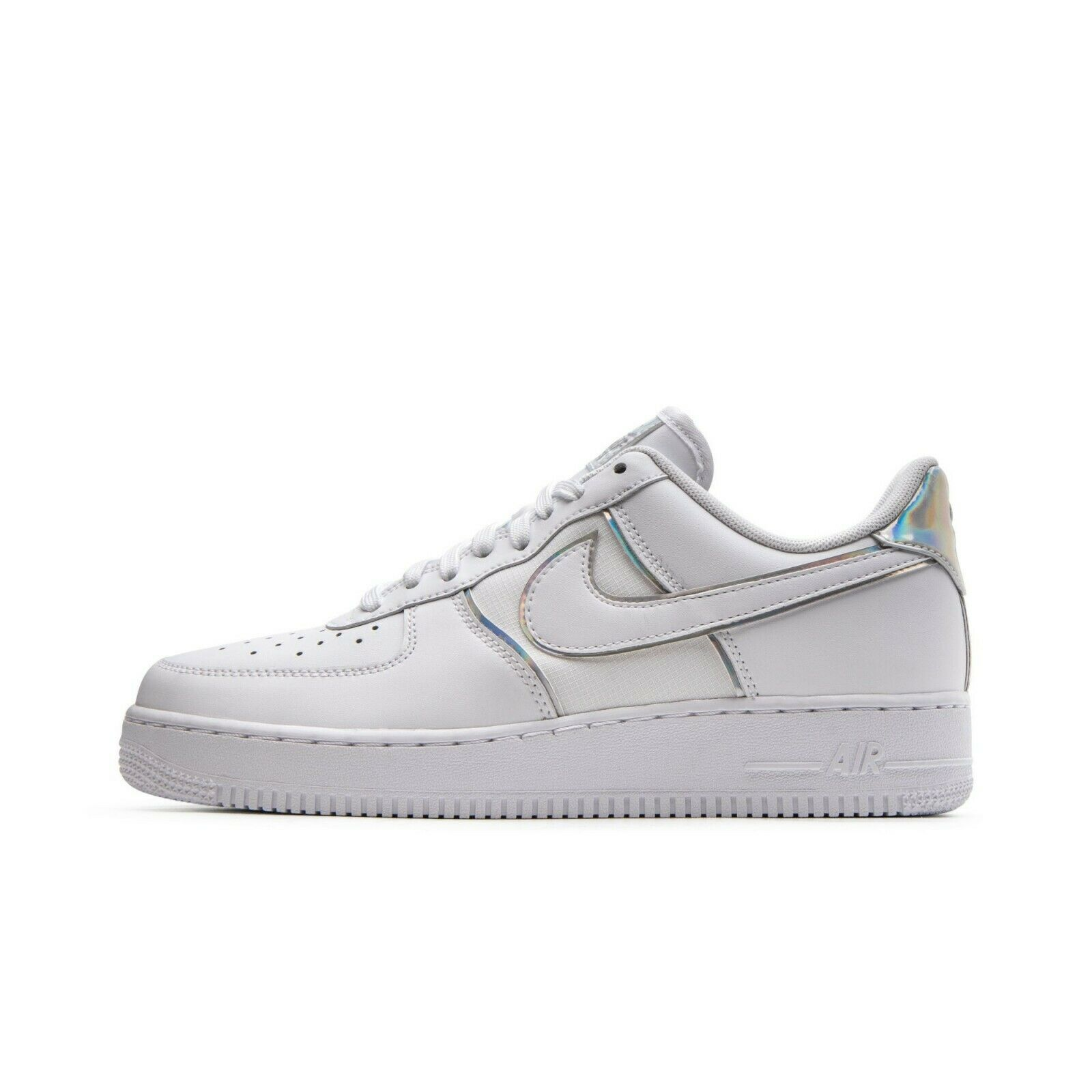 SCARPE SNEAKERS UOMO NIKE ORIGINALE AIR FORCE 1 '07 LV8 4 AT6147 PELLE P/E 2019