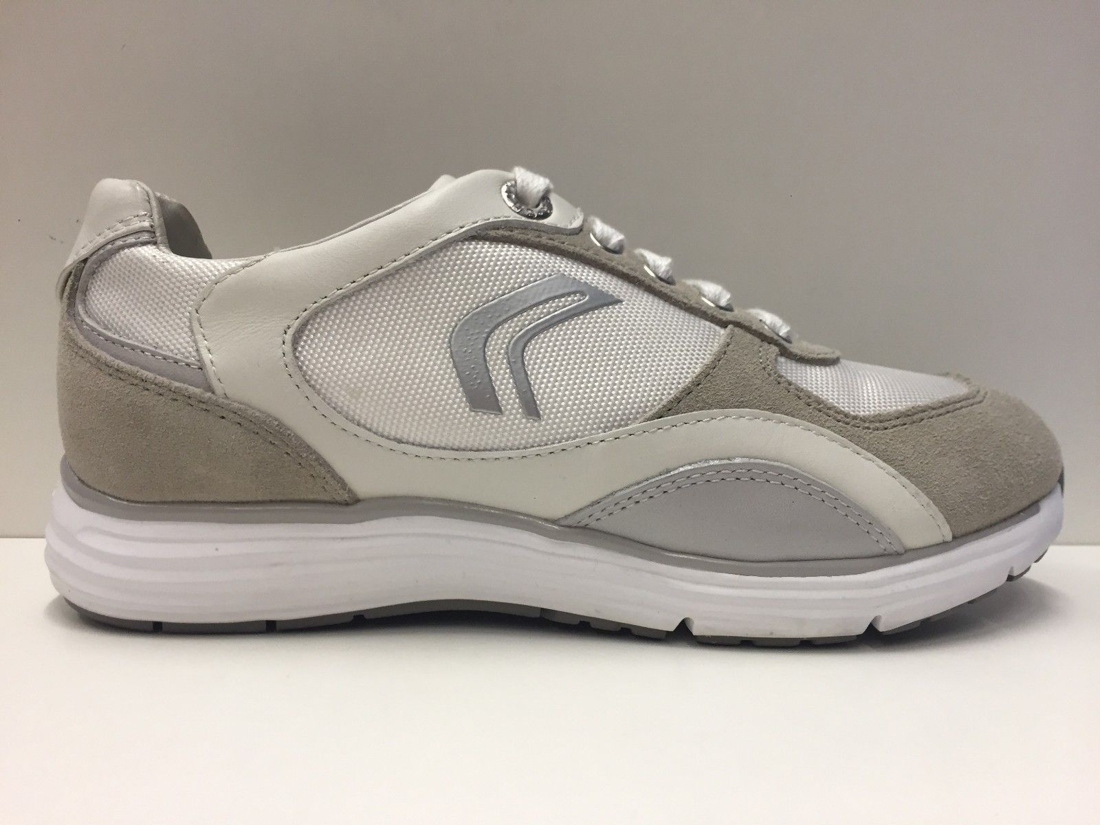 SCARPE CASUAL SNEAKERS DONNA GEOX ORIGINALE DYNAMIC D2205A SHOES PELLE PE NEW