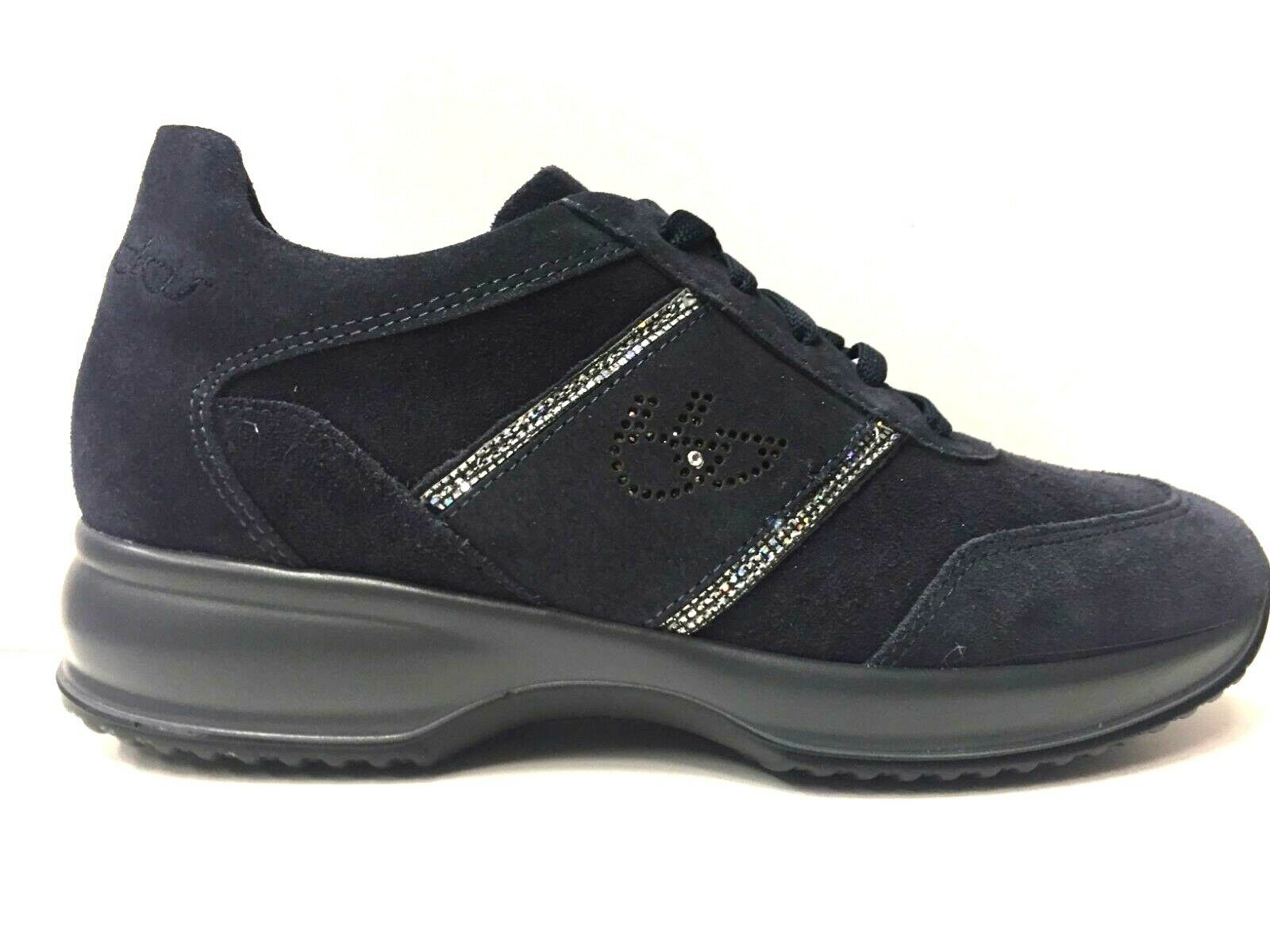 SCARPE SNEAKERS CASUAL DONNA BYBLOS ORIGINALE 695791 PELLE SHOES BLU  A/I NEW