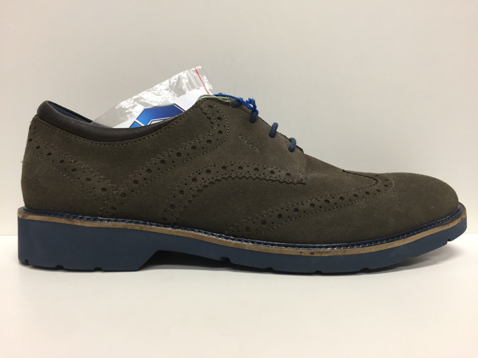 SCARPE INGLESINA UOMO GEOX ORIGINAL GARRETT U54L9A PELLE CAMPIONE SHOES LEATHER