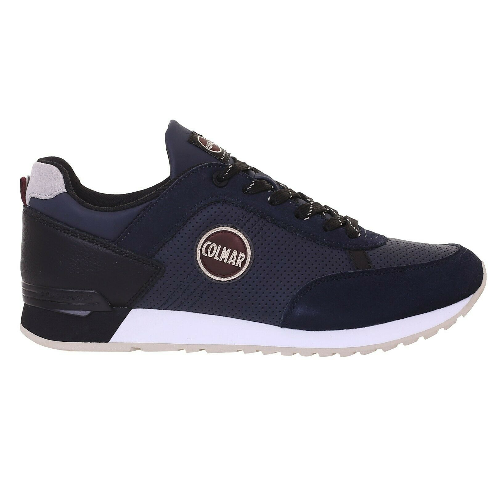 SCARPE SNEAKERS UOMO COLMAR ORIGINALE TRAVIS DRILL RILL 01 PELLE A/I 2018/19 NEW