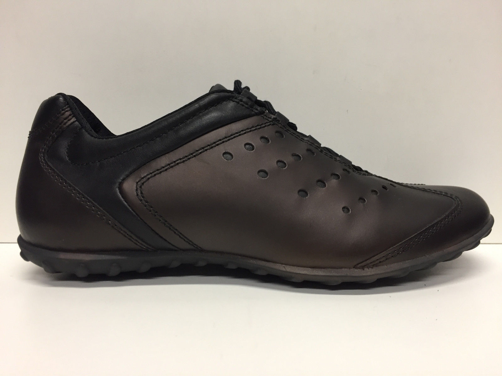 SCARPE CASUAL DONNA GEOX ORIGINAL HIT D5176L BRONZO PELLE SHOES LEATHER A/I NEW