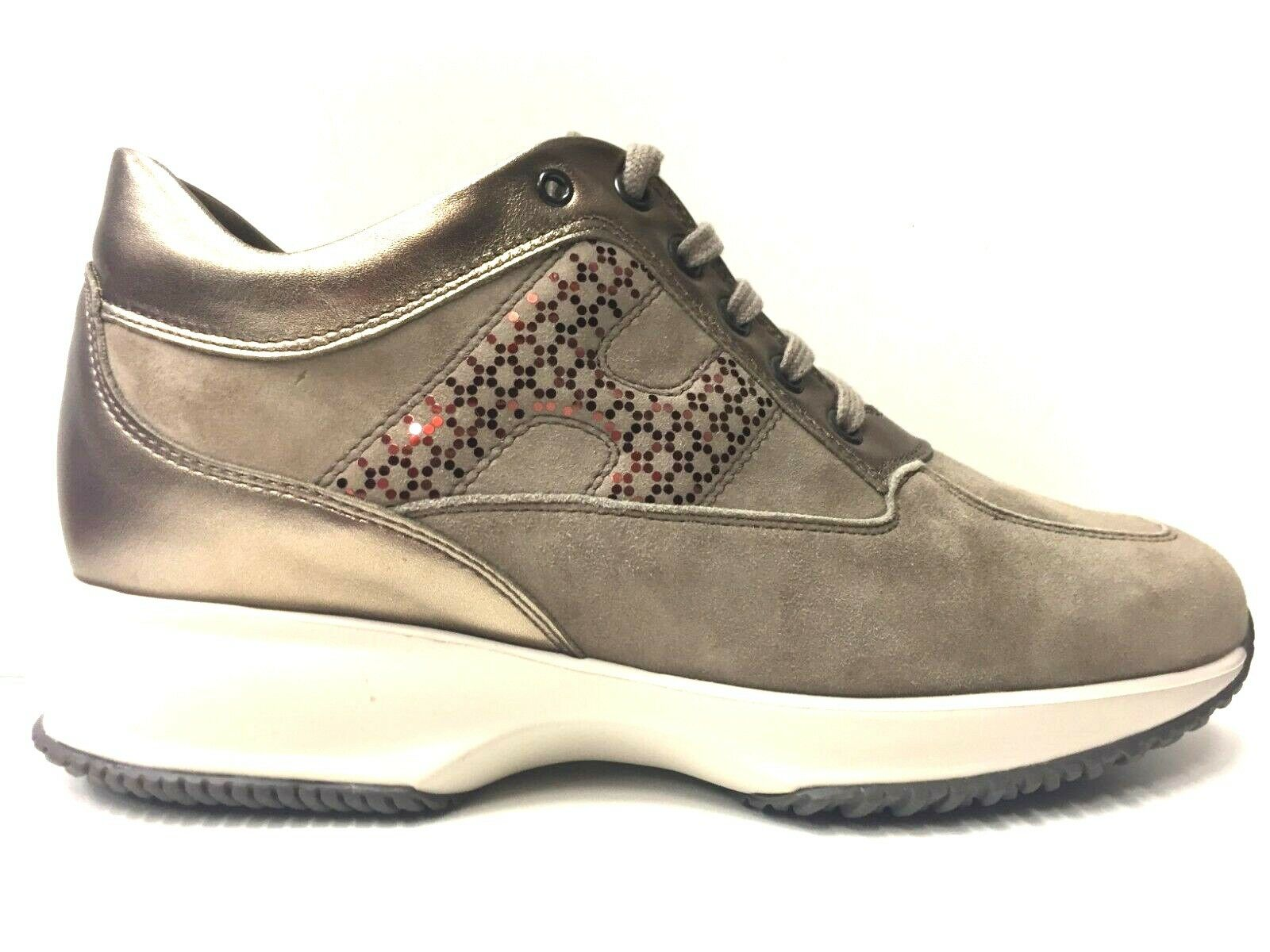 SCARPE SNEAKERS CASUAL DONNA HOGAN ORIGINALE INTERACTIVE LAV. H PELLE A/I NEW