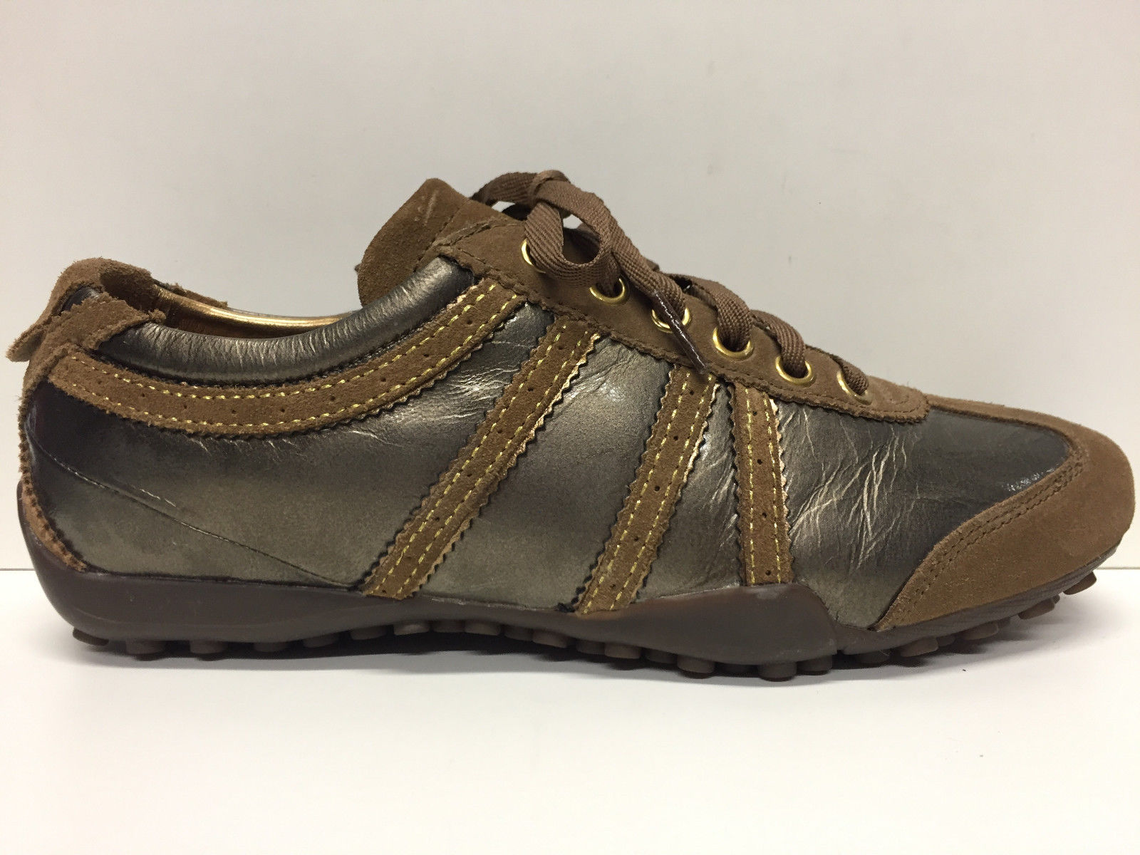 SCARPE CASUAL DONNA GEOX ORIGINAL SNAKE D8312H PELLE SHOES LEATHER WOMAN A/I NEW