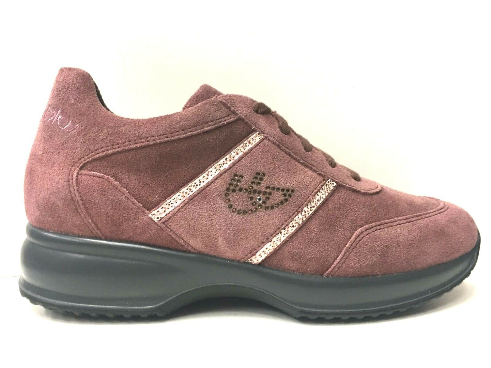 SCARPE SNEAKERS CASUAL DONNA BYBLOS ORIGINALE 695791 PELLE SHOES ROSA A/I NEW