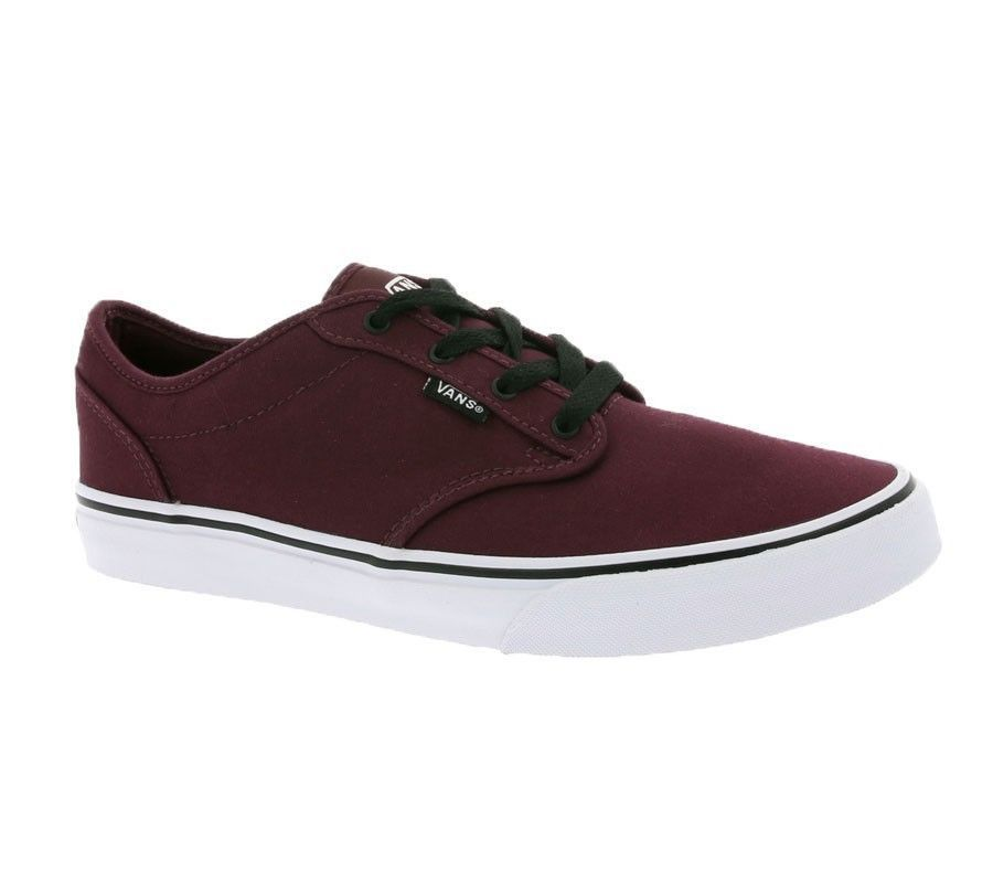 SCARPE SNEAKERS DONNA BAMBINO VANS ATWOOD VN000 UDTDDU OX BLOOD BLACK PE