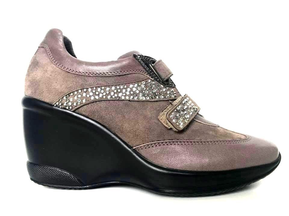 SCARPE CASUAL ZEPPA DONNA HECOS ORIGINALE E2 34 PELLE SHOES A/I NEW