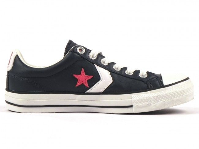 SCARPE SNEAKERS DONNA UOMO CONVERSE ALL STAR ORIGINAL STAR PLAYER 107872 PELLE