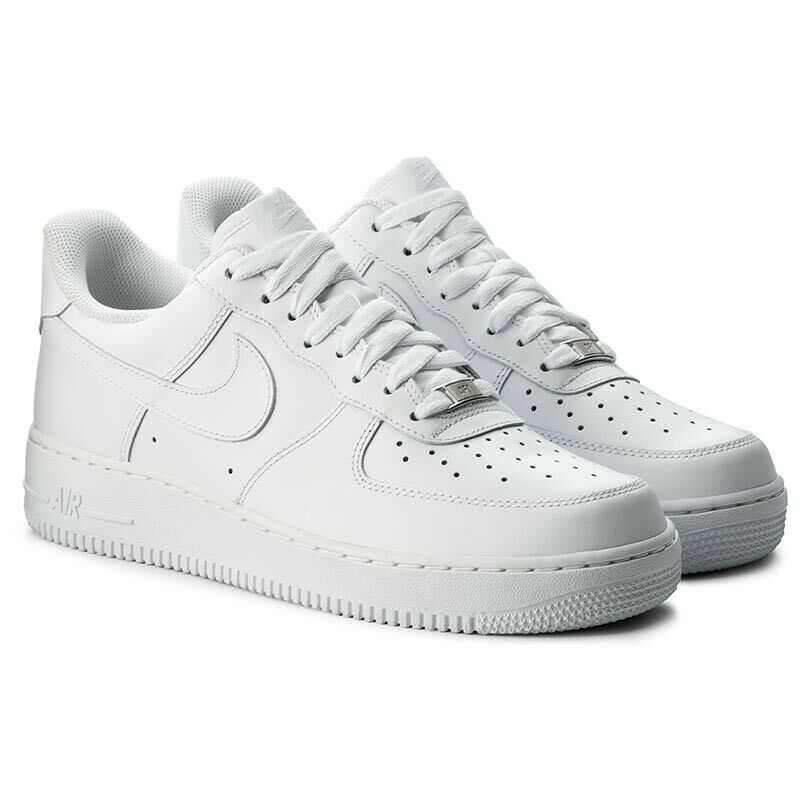 SCARPE SNEAKERS UOMO NIKE ORIGINALE AIR FORCE 1 '07 315122 PELLE A/I NUOVO