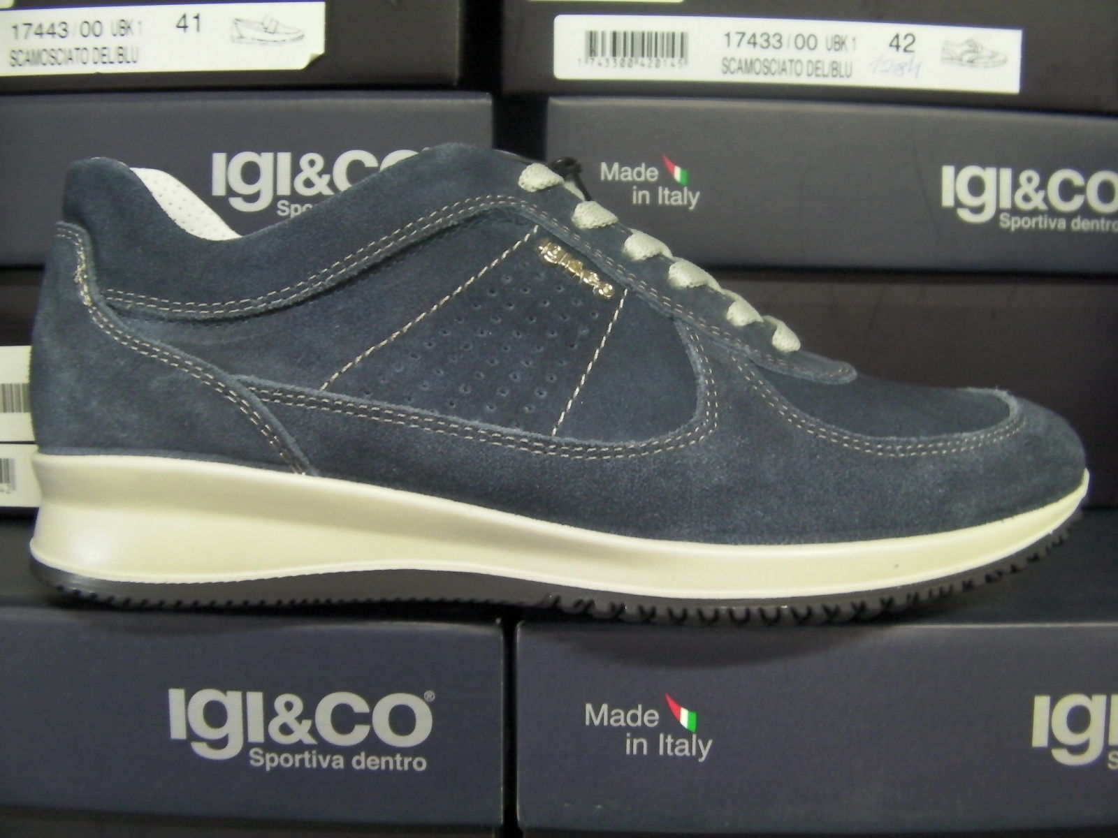 SCARPE CASUAL SNEAKERS UOMO IGI&CO IGIECO ORIGINALE 17540 PELLE SHOES NEW