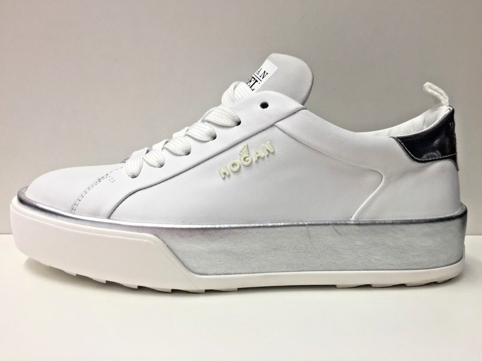 SCARPE SNEAKERS CASUAL DONNA HOGAN ORIGINAL R320 HXW3200X630GG PELLE P/E NEW