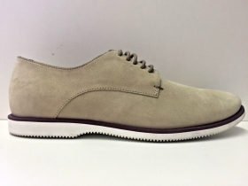 SCARPE CASUAL UOMO HOGAN DERBY BEIGE PELLE SHOES PE NEW ORIGINALE