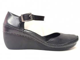 SCARPE SANDALO BALLERINE DONNA CLARKS 12752 GENTLE BREEZE PELLE ORIGINALE PE NEW