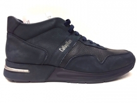 SCARPE CASUAL SNEAKERS UOMO CALLAGHAN IKRA 91302 BLU PELLE SHOES AI ORIGINALE