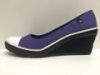 SCARPE DONNA CONVERSE WEDGE WRAP 515610 VIOLA TESSUTO ZEPPA WOMAN SHOES NUOVO
