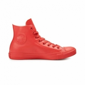 SCARPE SNEAKER CONVERSE CT HI 144744C RED GOMMA NATURALE SHOES UNISEX ORIGINALE