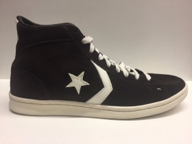 SCARPE SNEAKERS DONNA UOMO CONVERSE ALL STAR PRO 135169C DARK CHOCOLATE PELLE
