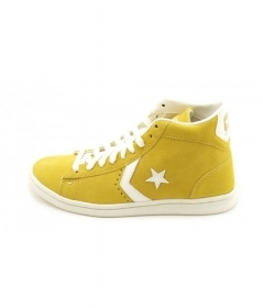 SCARPE SNEAKERS DONNA UOMO CONVERSE ALL STAR PRO 141600C CORN YELLOW PELLE