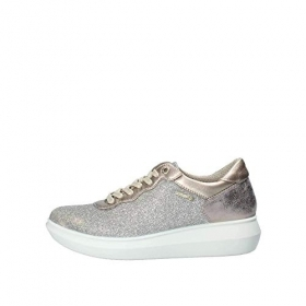 SCARPE SNEAKERS CASUAL DONNA ENVAL SOFT 1271022 PELLE TAUPE ORIGINALE PE NEW